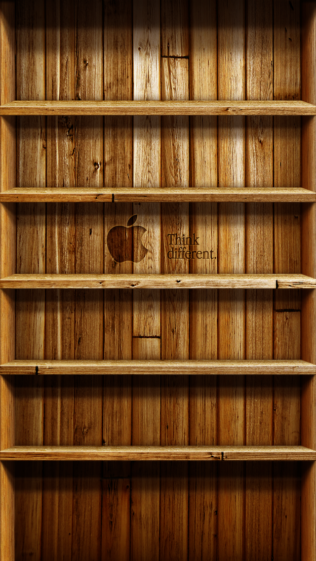 Wood Shelf Wallpaper for iPhone5