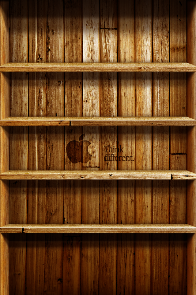 Wood Shelf Wallpaper for iPhone 4/4S